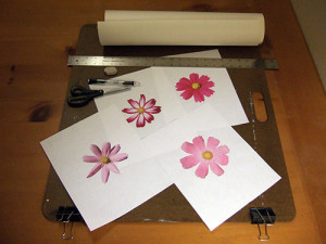 Цветы из шпона