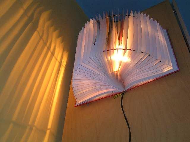 Светильник из книги